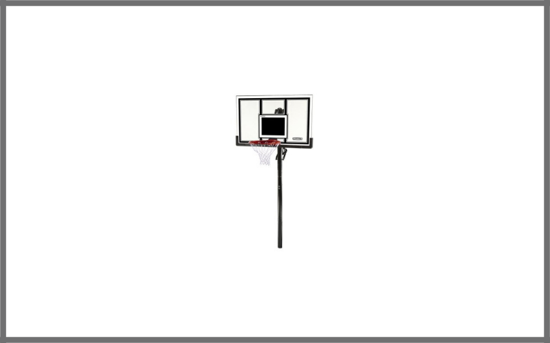 Lifetime 71525 Height Adjustable In Ground Basketball System, 54 Inch Shatterproof Backboard Review