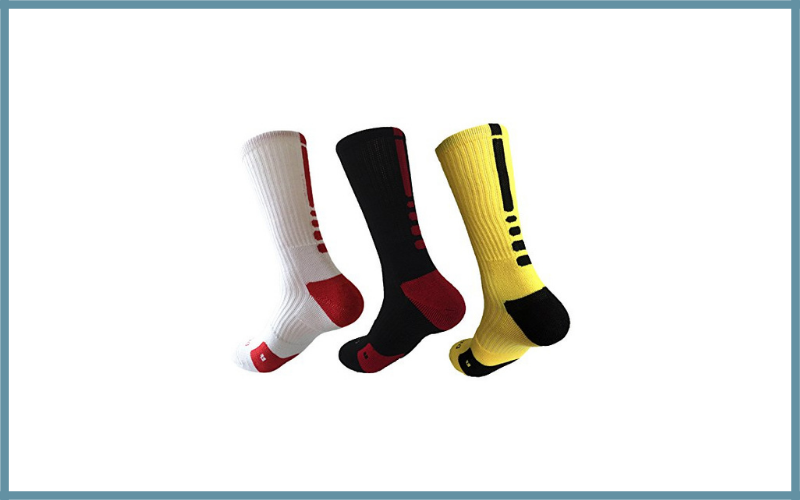Hxst Dri Fit Cushion Youth Basketball Crew Socks