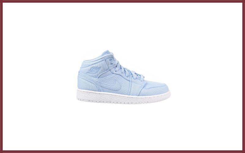 Jordan Nike Kids Air 1 Mid Basketball Shoe