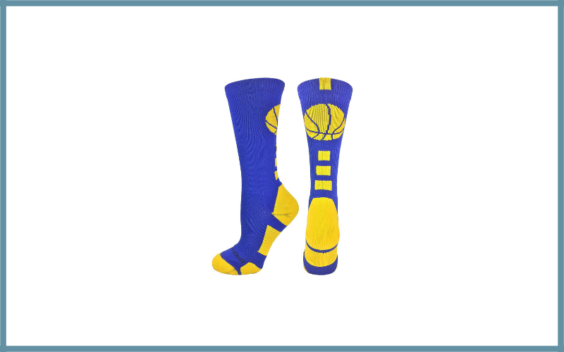 Madsportsstuff Basketball Logo Athletic Crew Socks