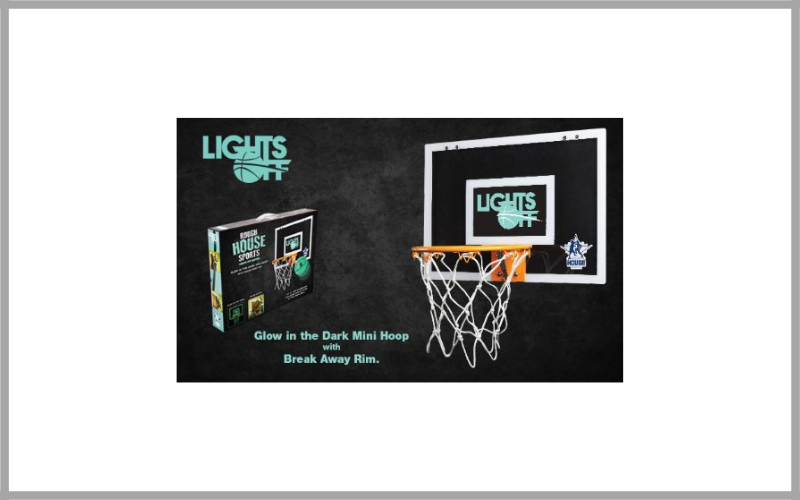 Rough House Lights – Off Glow in the Dark Mini Basketball Hoop